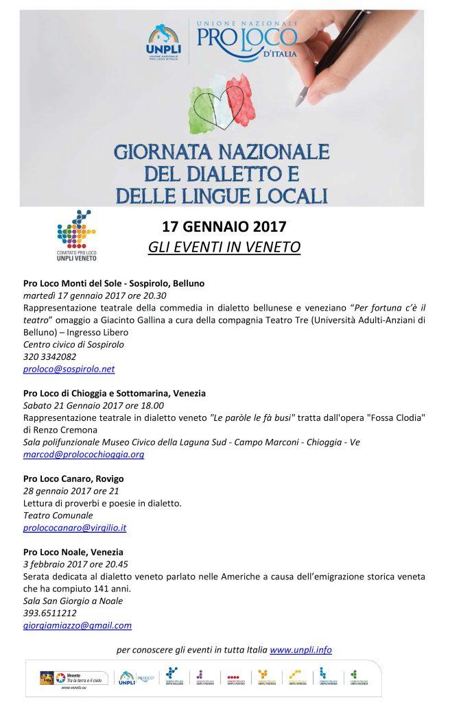 Favori 17 GENNAIO: GIORNATA NAZIONALE DEL DIALETTO | Unpli Veneto CZ24